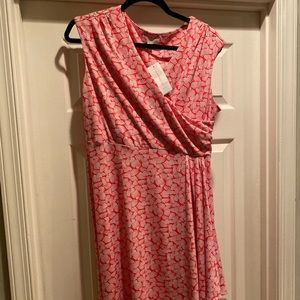 Charter club Pink and white dress size med